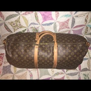 Auth Louis Vuitton Monogram Keepall 60 Luggage Bag